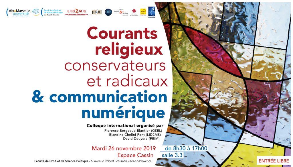 Affiche du colloque du 26 novembre 2019 à Aix-en-Provence.